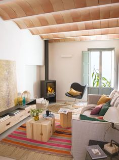 〚 From ruins to dream house: restored home in Girona 〛 ◾ Photos ◾Ideas◾ Design Egyptian Home Decor, House Smells, Stone Houses, Kitchen On A Budget, Luxurious Bedrooms, House Rooms, Living Room Decor, Architecture Design, Family Room