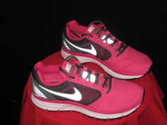 Womens Nike Vomero 8 Zoom Running Shoes Sz 8.5 Pink/Gray/White #Nike #Running #fitness