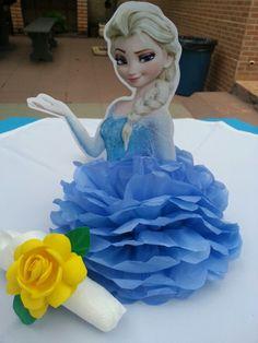 Centro de mesa Elsa- frozen