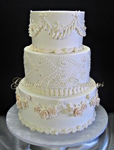 Vintage Antique Wedding Cake