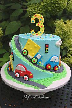 Baby Boy Birthday Cake, Truck Birthday Cakes, Creative Birthday Cakes, Truck Cakes, 2nd Birthday, Fondant Cake Designs, Marshmallow Fondant, Cake Fondant, Cake Icing