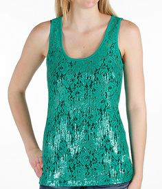 Sequin Lace Tank Top