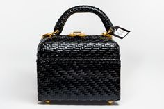 Vintage basket bag from the 60's by Preppytrendy on Etsy