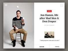 How Web Design News app / designed by Nguyen Le App Ui Design, User Interface Design, Design Web, Blog Design, Design Trends, Mad Men Don Draper, Human Centered Design, Jon Hamm, Website Design Layout