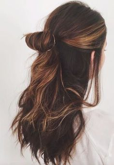 How to style your long hair? Simple and clean hair styling ideas.