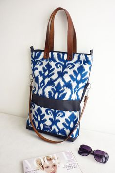 Canvas Totes – Large fold over canvas tote shopping bag tribal – a unique product by Noemi-Imola-Barta on DaWanda