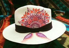 Fancy Hats, Cool Hats, Painted Hats, Hat Decoration, Floppy Hats, Millinery Hats, Love Hat, Summer Hats, Derby Hats