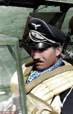 Adolf Galland in the pilot seat of a Bf 109 Ww2 Aircraft, Fighter Aircraft, Military Aircraft, Luftwaffe, German Soldiers Ww2, German Army, Nose Art, Adolf Galland, Benz