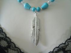 Hey, I found this really awesome Etsy listing at https://www.etsy.com/listing/186860922/silver-feather-necklace-southwestern