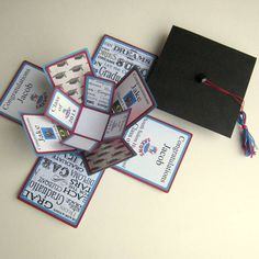 Graduation Card CUSTOM Exploding Box di BGardenCreations su Etsy