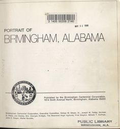 Portrait of Birmingham, Alabama: Birmingham Centennial Corporation