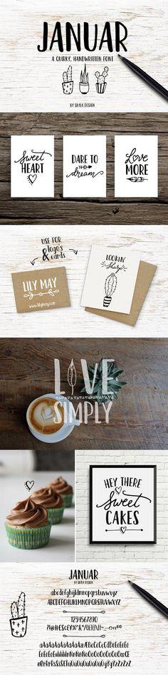 Handwritten font - Januar by Skyla Design on @creativemarket