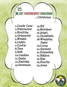 christmas photo challenge. Next year!!