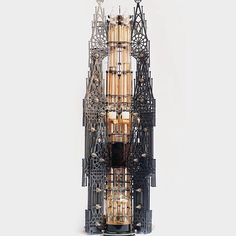 This magnificent, towering structure is actually an intricate machine that functions as a cold drip coffee maker. It was created by Seoul-based design firm Dutch Lab. #DutchLab #coffee #Padgram