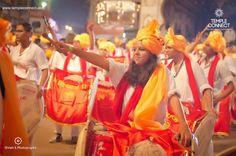 A Dhol Tasha Group  during the Ganesh Utsav Ganpati Visarjan from Pune, India Pune Ganpati, Ganpati Visarjan, Yoga Studio Interior, Ganpati Festival, Ganesh Utsav, Hindu Festivals, The Incredibles, Culture, Indian