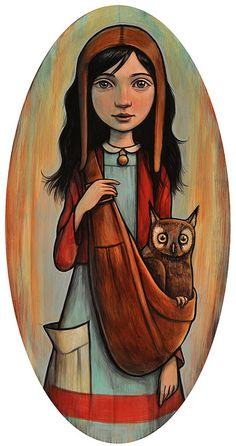 Just found this Kelly Vivanco art.  Likin it, totally, go to the website, they have other stuff but mostly sold out.  I like the owl, of course!