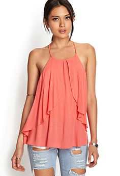 Crepe Woven Flounce Top | FOREVER21 - 2000061037