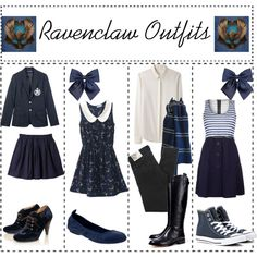"""Ravenclaw outfits"" by ameliaroseoswald on Polyvore"