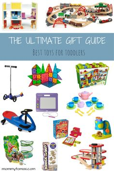A list of the best toys for toddlers that have been mom-vetted and toddler-approved! Any of these toys would make great birthday or holiday gifts for kids ages 2 to 3 years old.