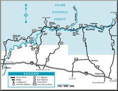 Mulberry River map courtesy of the Arkansas Department of Parks and Tourism and the Arkansas Paddlers' Guide