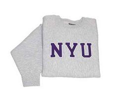 New York University Bookstores - NYU Crew Sweatshirt