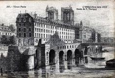 L'ancien Hôtel Dieu de Paris qui était démoli par Haussmann pour le rénover en 1864. Le but du projet est de créer un établissement compatible avec les nouvelles inventions médicales et de protéger les malades dans un environnement sain et hygiénique