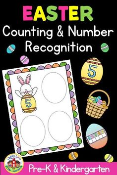 Practice counting and matching identical numbers and sets with this preschool Easter Counting and Number Matching Activity. This fun Easter preschool counting game can be introduced in a small group then placed in a math or Easter center. Educational Activities For Toddlers, Circle Time Activities, Infant Activities, Easter Activities, Preschool Math, Kindergarten Activities, Pre-k Resources, Number Matching, Activity Centers