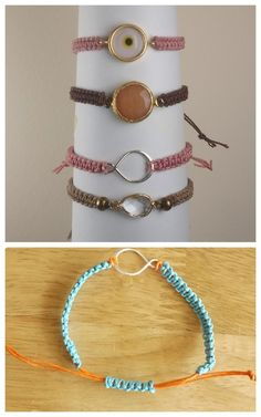 DIY Macrame Bracelet with Sliding Knot Closure Tutorial from...