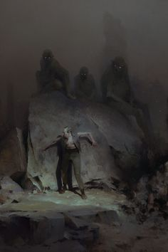 The Gray Ones Gather by Piotr Jablonski I rarely comment on posts, but Jablonski is establishing himself as one my favorite fantasy artists. There's a Lovecraftian menace to his work that I really dig. The best illustrators are storytellers.
