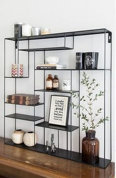A smart storage solution could be the answer for those who want to have useful storage to save some stuff on the limited space for a minimalist home. Decor, Living Room Wall Units, Apartment Interior Decorating, Smart Storage, Wall Decor Design, Interior, Apartment Interior Design, Cool Apartments, Apartment Interior