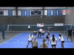 4-on-4 Kamikaze volleyball drill with Beth Launiere - YouTube