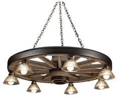 Cast Horn Designs Large Wagon Wheel Chandelier | Bass Pro Shops