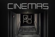 Logo, custom typography and signage by Pentagram for New York's Quad Cinema