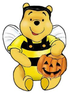 POOHBEAR HALLOWEEN PICE   Just one month untill Halloween. Pooh really loves Halloween. He likes ...
