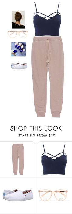 """""""Untitled #45"""" by snowflake39 ❤ liked on Polyvore featuring T By Alexander Wang, Charlotte Russe, TOMS, Chloé and plus size clothing"""