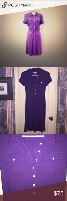 I just added this listing on Poshmark: Deep purple mid calf flowing short sleeve dress. #shopmycloset #poshmark #fashion #shopping #style #forsale #Karen Alexander Boston Proper #Dresses & Skirts