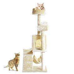 "PARTYSAVING 51"" Cat Kitty Tree Scratcher Play House Condo Furniture Toy Bed Post House APL1064, Beige, Medium PARTYSAVING http://www.amazon.com/dp/B015G23UI0/ref=cm_sw_r_pi_dp_XqPLwb0CBTDYV"