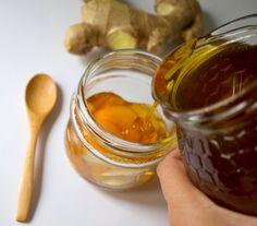Remedios caseros contra el resfriado, miel de jengibre.