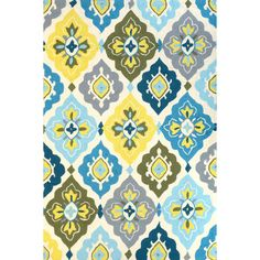 Shop nuLOOM Block Island Yellow Hand Made Indoor/Outdoor Nikita Area Rug at Lowe's Canada. Find our selection of outdoor rugs at the lowest price guaranteed with price match. Yellow Rug, Yellow Area Rugs, Renovation Hardware, Custom Made Curtains, Contemporary Area Rugs, Rugs Usa, Hand Tufted Rugs, Floral Rug, Indoor Outdoor Area Rugs