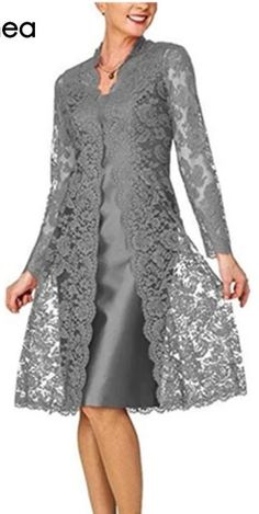 D Women's Short Mother of The Bride Dress with Lace Bole.D Women's Short Mother of The Bride Dress with Lace Bolero Silver Grey H.D Women's Short Mother of The Bride Dress with Lace Bolero Silver Grey - Trendy Dresses, Plus Size Dresses, Short Dresses, Fashion Dresses, Formal Dresses, Party Dresses, Wedding Dresses, Bridesmaid Dresses, Dresses Dresses