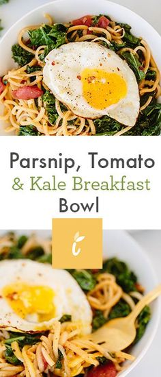 Parsnip, Tomato and Kale Breakfast Bowl