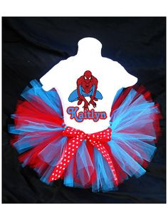 Spiderman Birthday Outfit Costume by PrettyAsAPrincess2 on Etsy, $27.99