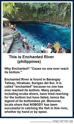 The Enchanted River in Philippines.