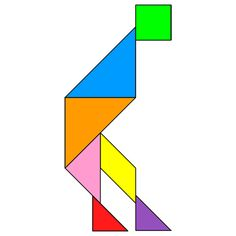 Tangram Bowing - Tangram solution #71 - Providing teachers and pupils with tangram puzzle activities