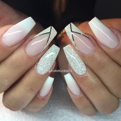 In search for some nail designs and ideas for the nails? Here's our list of 16 must-try coffin acrylic nails for trendy women. French Tip Nail Designs, French Tip Nails, Nail Art Designs, Colorful Nail Designs, Nail French, Gorgeous Nails, Love Nails, Pretty Nails, My Nails