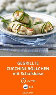 Gegrillte Zucchini-Röllchen - mit Schafskäse - smarter - Kalorien: 144 Kcal - Zeit: 30 Min. | eatsmarter.de