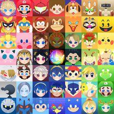 Super Smash Bros 4 - Print by mmishee on DeviantArt Super Smash Bros Brawl, Nintendo Super Smash Bros, Super Mario Bros, Baguio, Metroid, Wii U, Creepypasta Anime, Nintendo Sega, Video Game Art