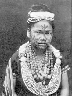 Girl of the Chindok tribe, Myanmar | The different tribes of the Chin Hills in north-western Myanmar use tattoo marks to distinguish one hill tribe from another. It is common for girls to have their faces tattooed from early childhood on. Image: CharlesKennedy/craufurd-Stuart
