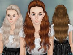 Hairstyle for Female, Child through Elder.  Found in TSR Category 'Sims 3 Hair Sets'
