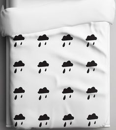 Organic Clouds Baby bedding  Duvet Cover  Toddler by tinytweets